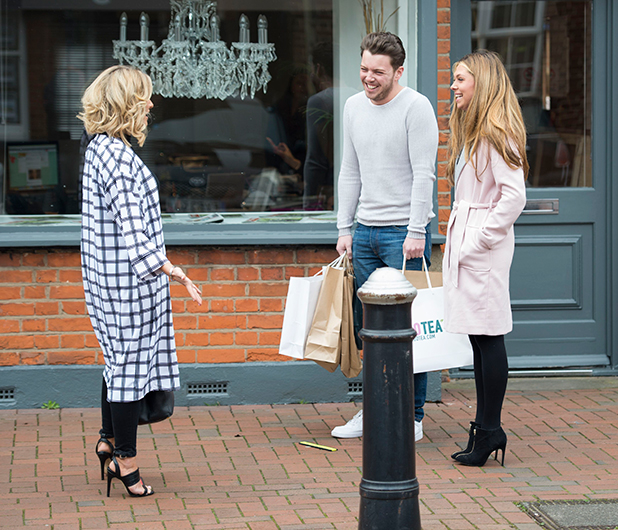 The Only Way is Essex' cast filming, Britain - 20 Mar 2015 Danielle Armstrong and Francesca Parman.