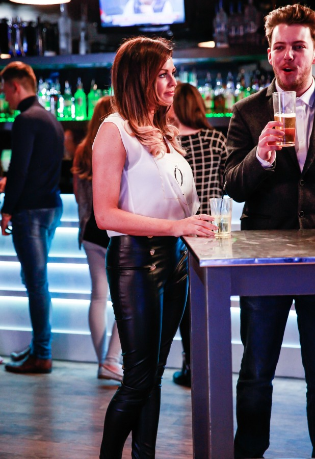 The Only Way is Essex' cast filming, Britain - 22 Mar 2015 Jessica Wright in the club