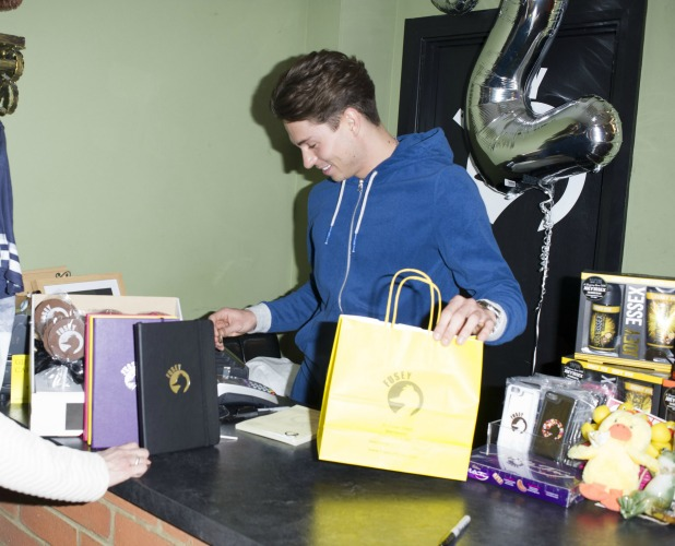 Joey Essex celebrates Fusey store's two year anniversary. 21 Mar 2015