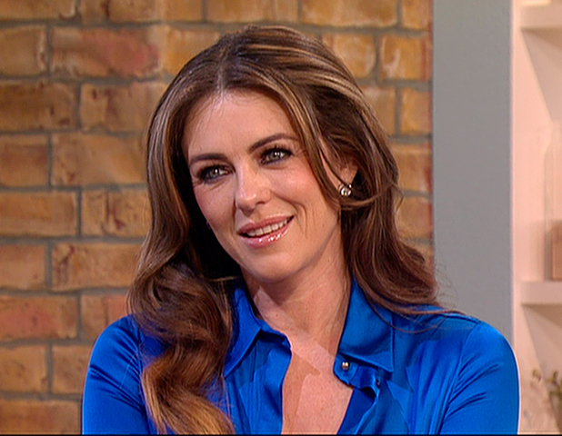 Elizabeth Hurley appears on 'This Morning' to talk about new E! drama 'The Royals'. Shown on ITV1 HD, 24 March 2015