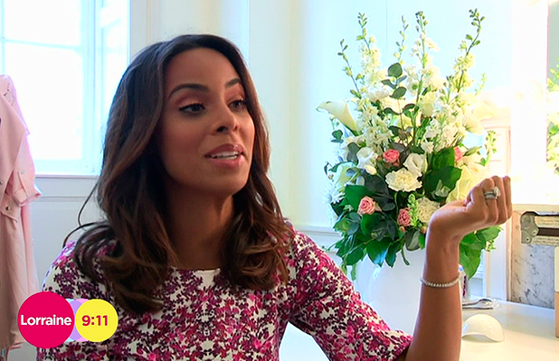 Rochelle Humes speaking about her debut catwalk show for her 'Very' collection, on 'Lorraine'. Broadcast on ITV1 HD. 24 March 2015