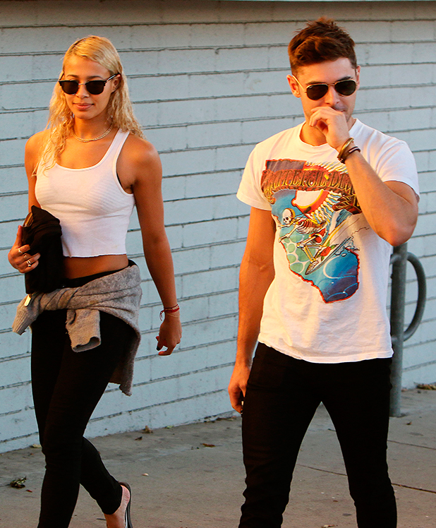 Zac Efron and Sami Miro out and about, Los Angeles, America - 05 Nov 2014
