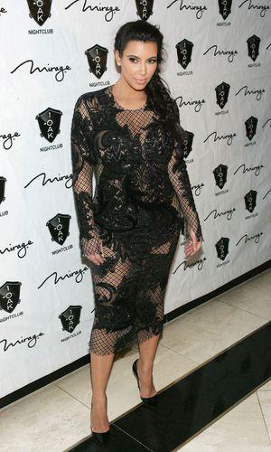 Kim Kardashian rocks it in Julien Macdonald dress (31 December 2012)
