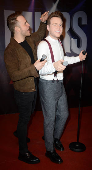 Olly Murs at the launch of his wax figure at Madame Tussauds Blackpool - 30 March 2015.