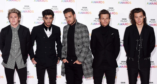 One Direction at the BBC Music Awards: Niall Horan, Zayn Malik, Liam Payne, Louis Tomlinson and Harry Styles. 11/12/14