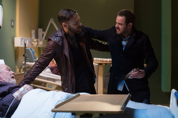 EastEnders, Mick throws Dean out of the hospital, Mon 6 Apr