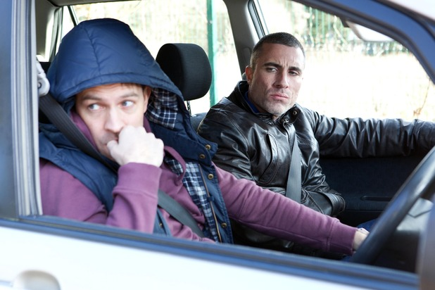 Hollyoaks, Darren does a dodgy drive for Trevor, Tue 31 Mar