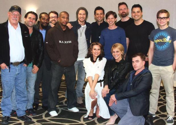 One Tree Hill's Lucas, Peyton, Mouth, Skills, Bevin reunite in North Carolina - 29 March 2015.