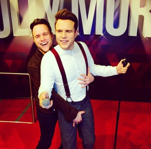 Olly Murs at the launch of his wax figure at Madame Tussauds Blackpool -