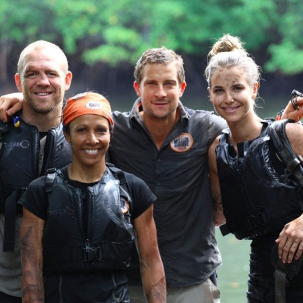 The finalists - Vogue Williams, Mike Tindall, Kelly Holmes - on Bear Grylls' Mission Survive.