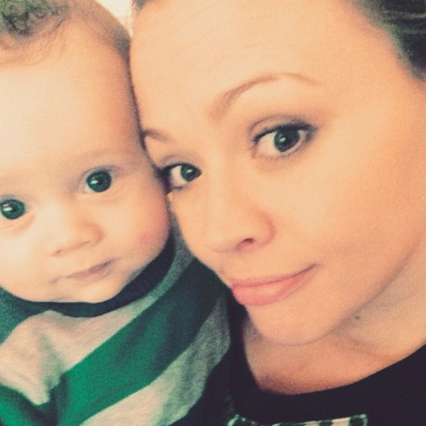 Kimberley Walsh shares super cute snap of seven-month-old son, 4 April 2015