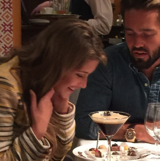 Made In Chelsea's Lauren Frazer Hutton celebrates birthday with boyfriend Spencer Matthews and co-stars Victoria Baker-Harber and Mark-Francis Vandelli - 28 March 2015.
