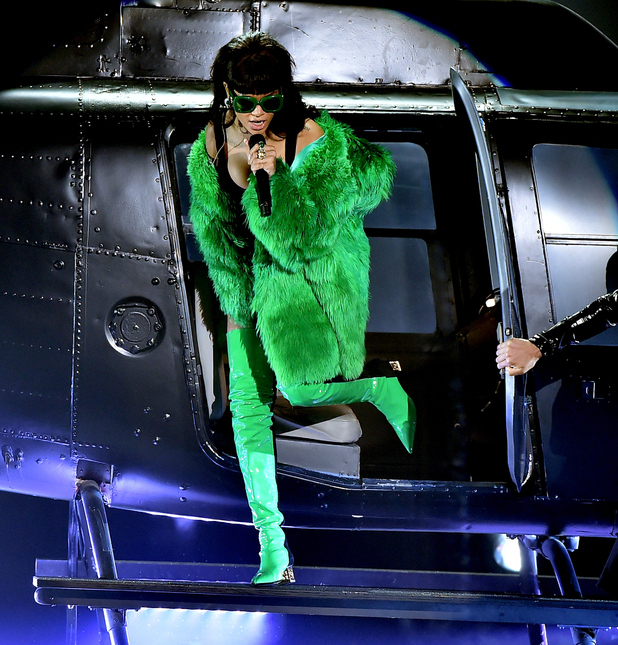 Rihanna performs onstage during the 2015 iHeartRadio Music Awards which broadcasted live on NBC from The Shrine Auditorium on March 29, 2015 in Los Angeles, California.