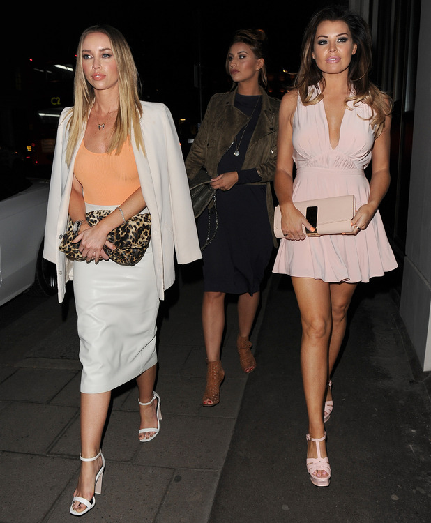 Lauren Pope, Jessica Wright and Ferne McCann head to Sixty One restaurant in London, 4 April 2015