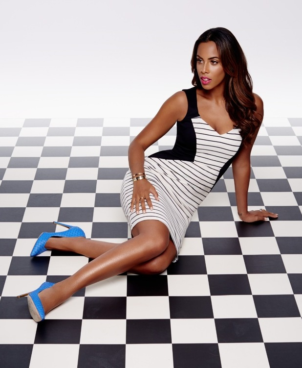 Rochelle Humes posing for spring/sumer Very range, 1/4/15