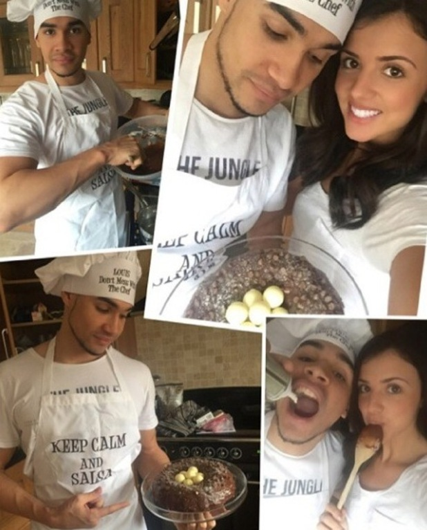 Louis Smith and girlfriend Lucy Mecklenburgh share photos from their creative baking session - 30 March 2015.