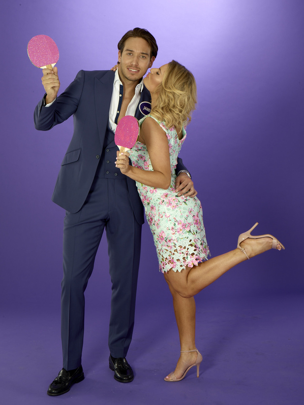 James Lock and Danielle Armstrong take part in Reveal's TOWIE Mr & Mrs competition