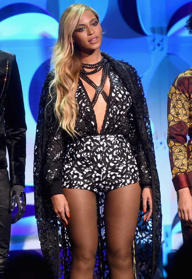 Beyonce onstage at the Tidal launch event #TIDALforALL at Skylight at Moynihan Station on March 30, 2015 in New York City.