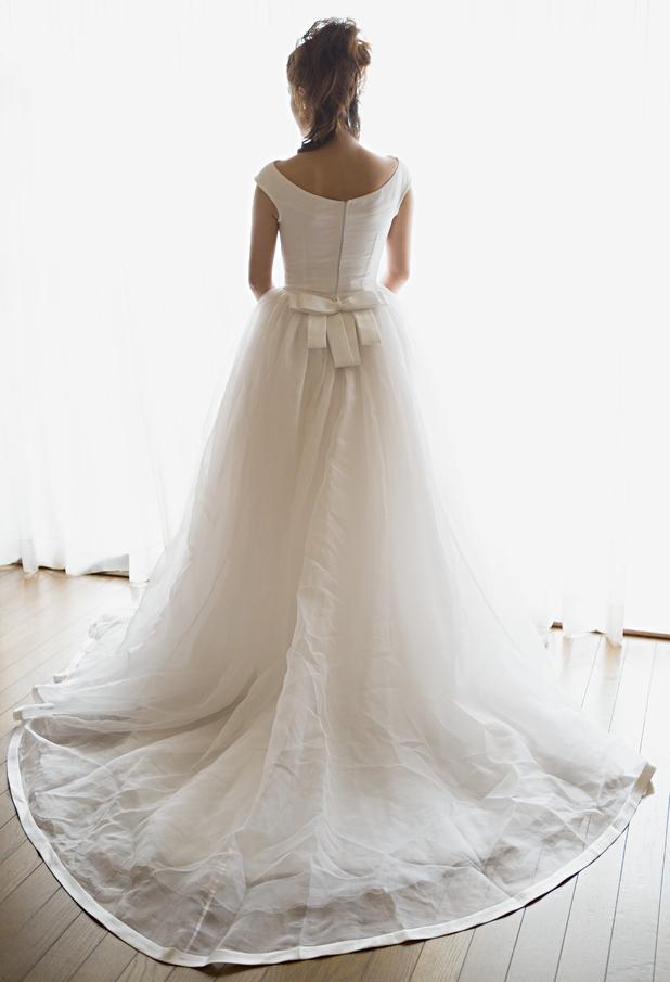 Bride facing away