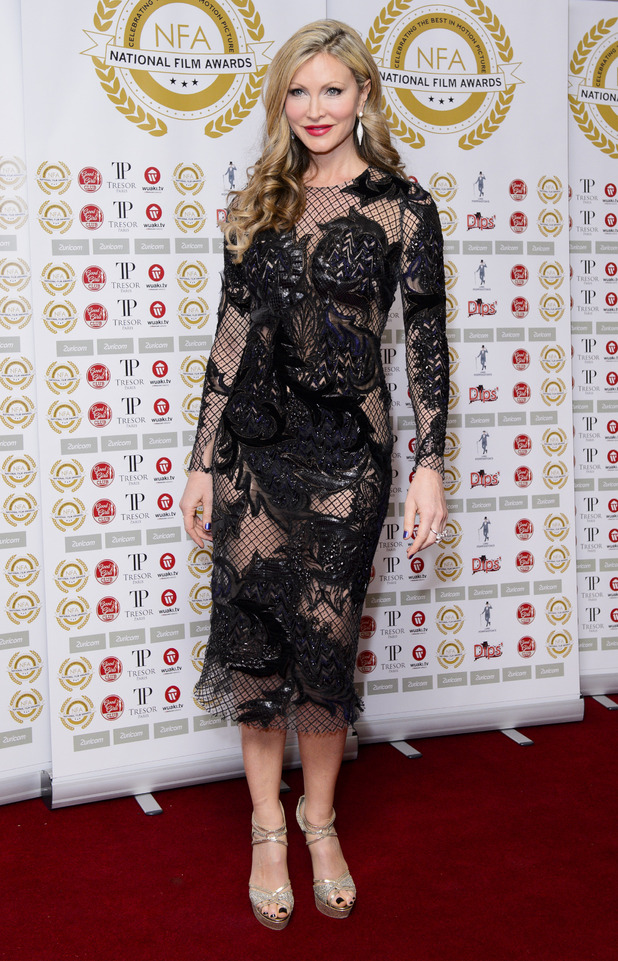 Caprice Bourret went all out at the National Film Awards wearing a revealing, sheer dress, which flashed her slim figure (31 March)