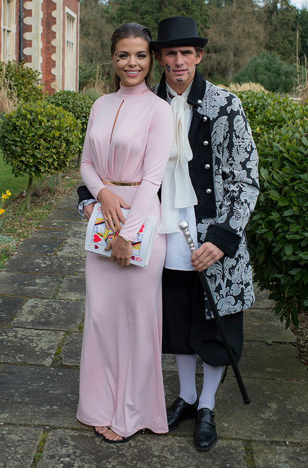 'The Only Way is Essex' cast filming, Britain - 01 Apr 2015 Chloe Lewis and Jake Hall