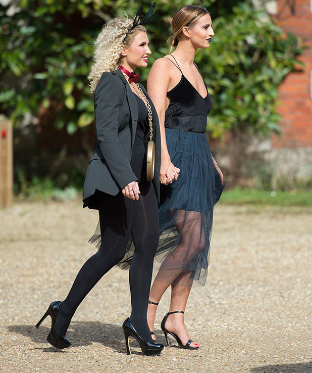 The Only Way is Essex' cast filming, Britain - 01 Apr 2015 Ferne McCann and Billie Faiers