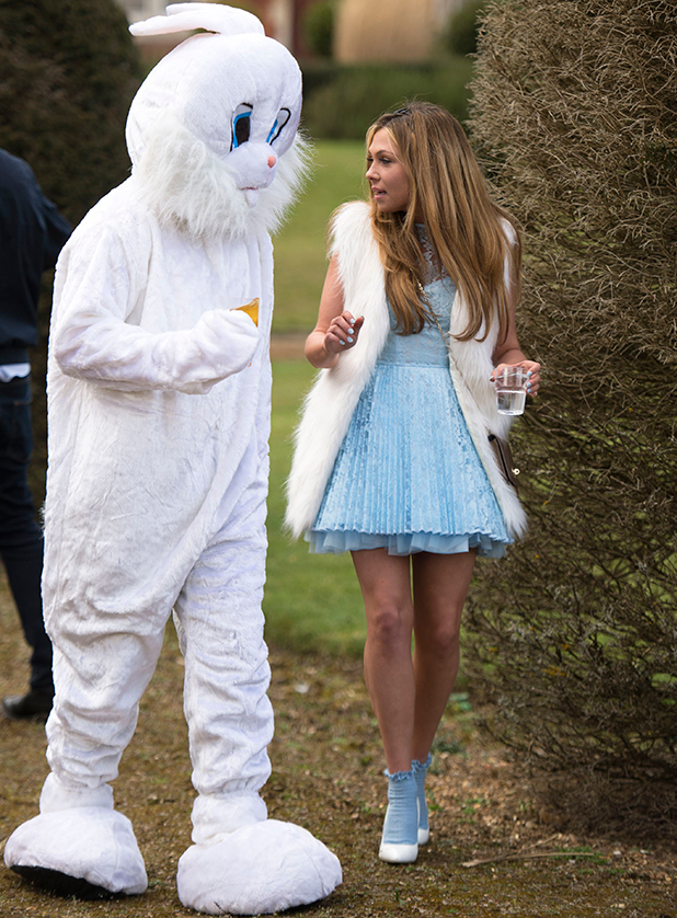 The Only Way is Essex' cast filming, Britain - 01 Apr 2015 Fran Parman