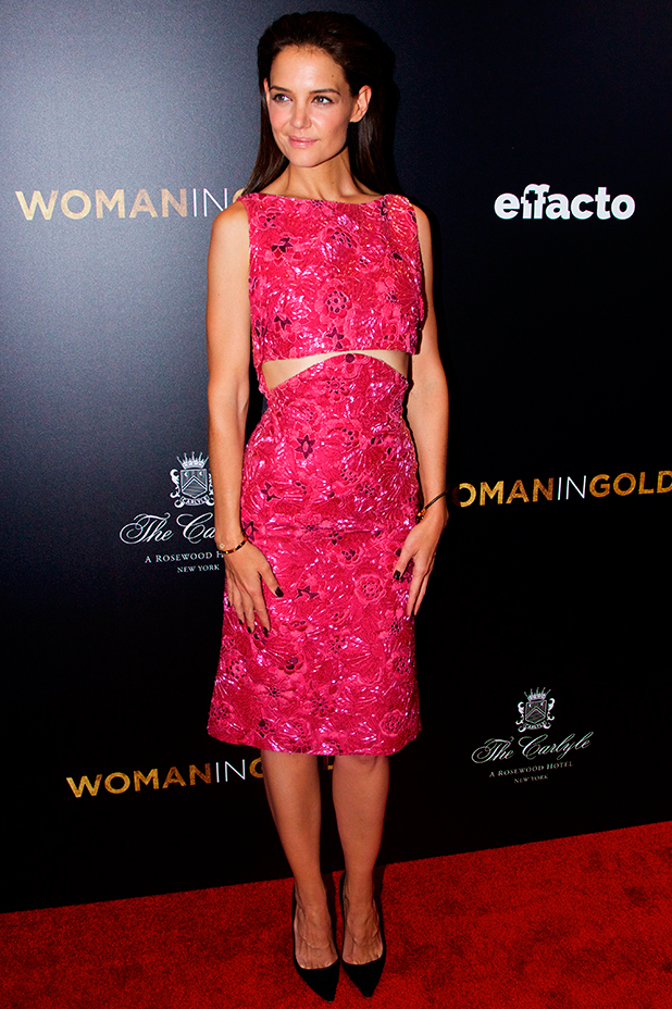 Katie Holmes at New York premiere of 'Woman in Gold' at the Museum of Modern Art - Red Carpet Arrivals, 30 March 2015