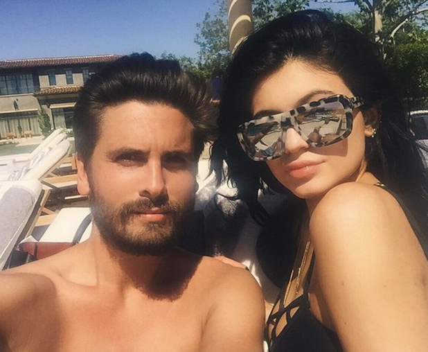 Kylie Jenner and Scott Disick poolside, 29 March 2015