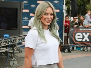 Hilary Duff is seen at Universal CityWalk on April 7, 2015 in Los Angeles, California.