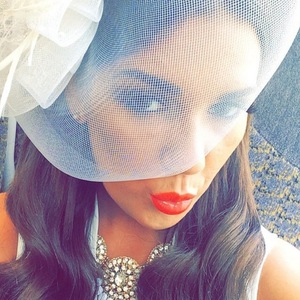 Imogen Townley enjoys day at Aintree races, Instagram 9 April