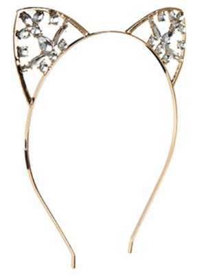 CAT EARS GEM ALICE BAND, Accessorize