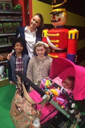 Brooke Vincent with her godchildren over the Easter break - 7 April 2015.