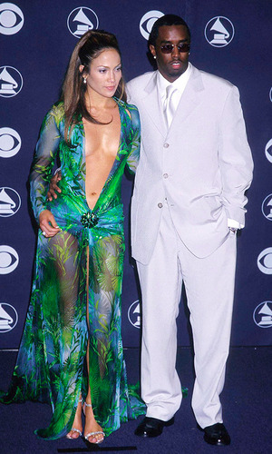 Jennifer Lopez and Sean'Diddy' Combs, 42nd annual Grammy Awards Los Angeles, California-23.02.00