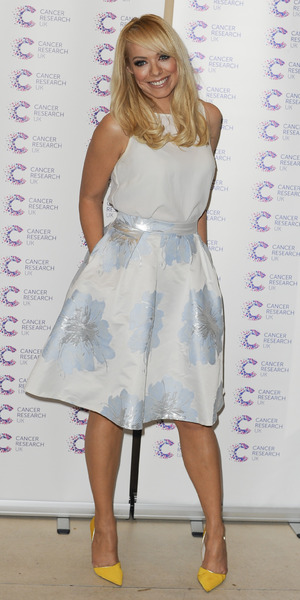 Liz McClarnon attends Jog On To Cancer event at Kensington Roof Gardens, London 9 April