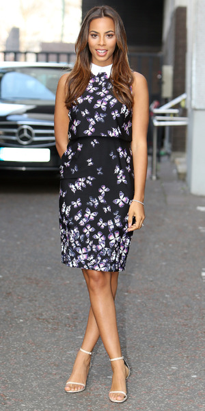 Rochelle Humes appears on Good Morning Britain, ITV Studios, London 10 April