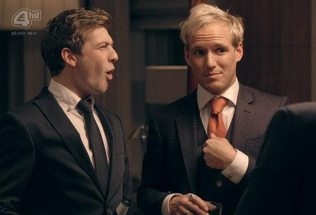 Sam Thompson and Jamie Laing - Made In Chelsea series eight -16 December 2014.