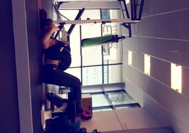 Lauren Goodger in the gym on Good Friday, Instagram 3 April
