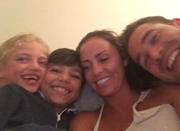 Katie Price has big smiles with husband Kieran Hayler and kids Princess and Junior, 11 April 2015