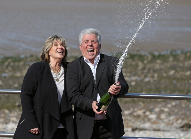 Denise and Robert Scarr thought they'd won £25 - but they'd actually scooped the jackpot