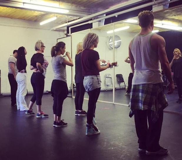 S Club 7 share rehearsal photo as they prepare for their UK tour - 8 April 2015.