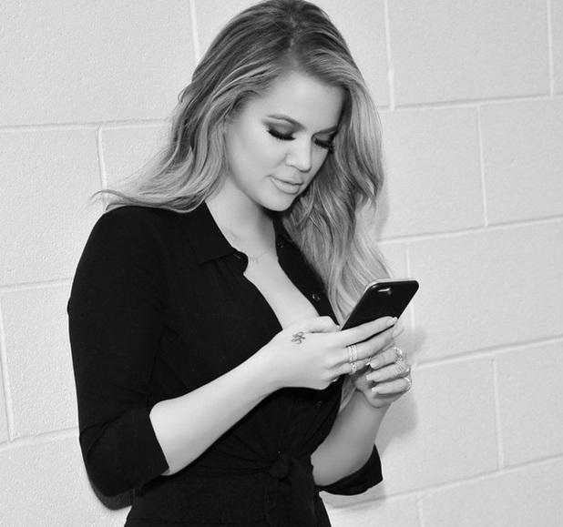 Khloe Kardashian teases new app, 8 April 2015