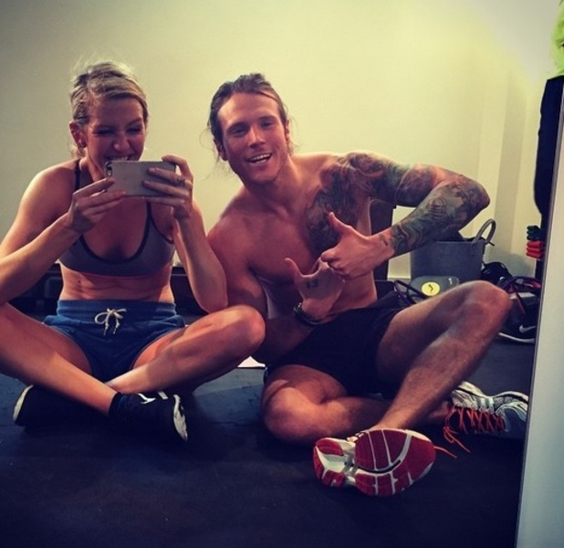 Ellie Goulding and Dougie Poynter in the gym, Instagram 6 April