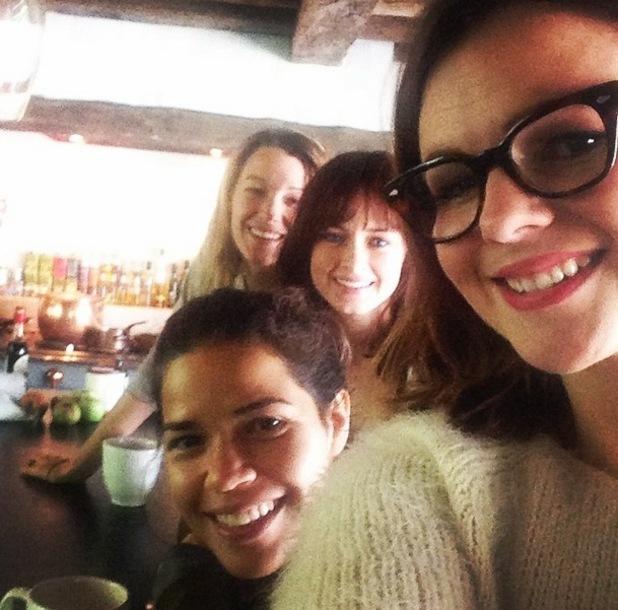 Amber Tamblyn, America Ferrera, Alexis Bledel and Blake Lively, Instagram September 2014