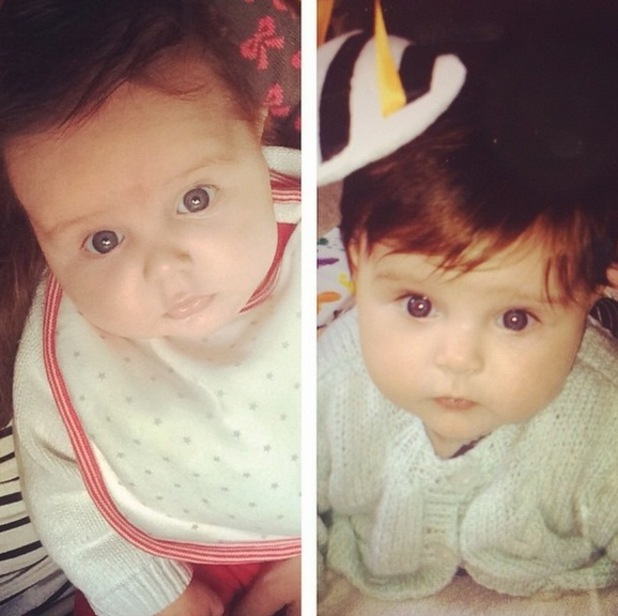 Una Foden shares baby photos of Aoife-Belle and Tadhg, Instagram 10 April