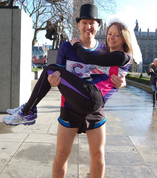 Paul Elliott and Laura Harvey are going to marry while running the marathon