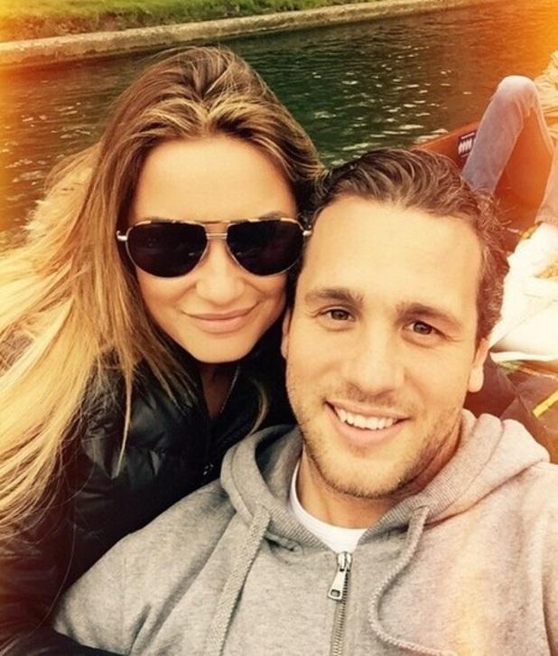 Sam Faiers and boyfriend Paul Day in Cambridge, Instagram 6 April