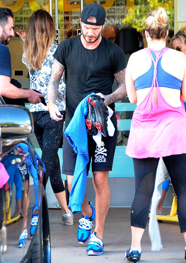 The Beckham family out and about, Los Angeles, America - 08 Apr 2015