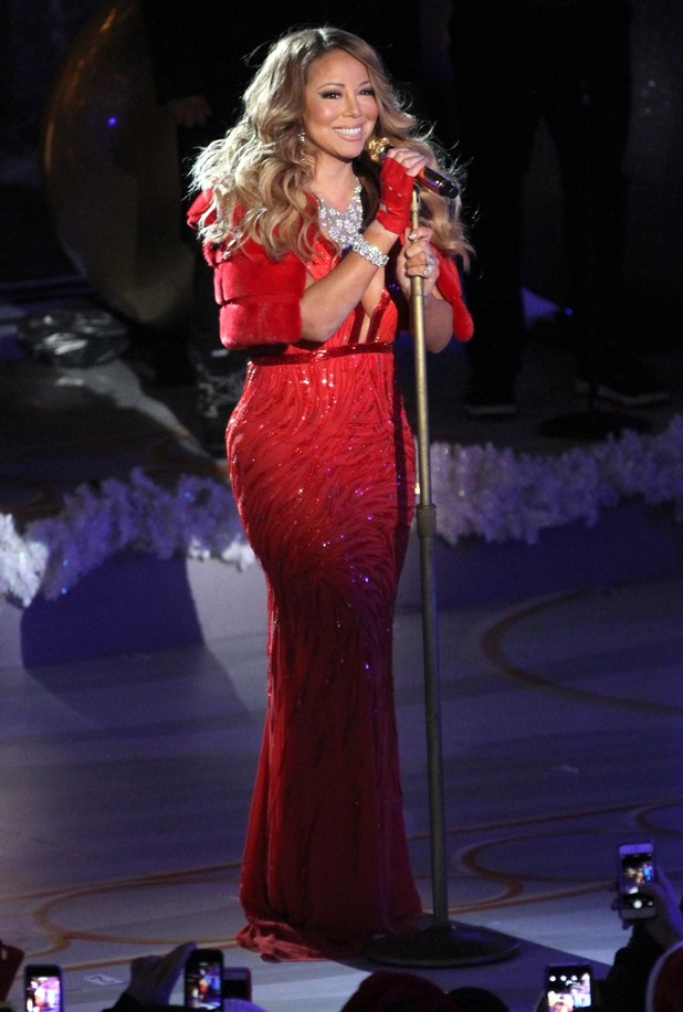 Mariah Carey at the 82nd annual Rockefeller Christmas Tree Lighting Ceremony at Rockefeller Center on December 3, 2014 in New York City - 12/03/2014 - New York, United States.