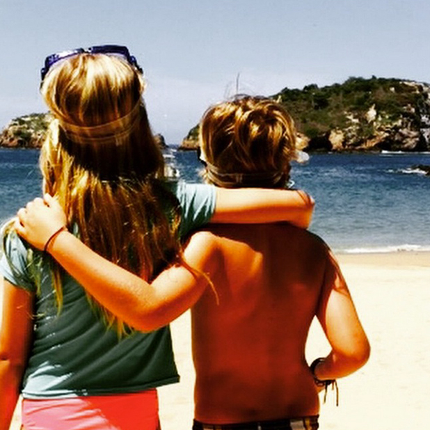Gwyneth Paltrow shares photo of kids Moses and Apple on holiday, April 2015
